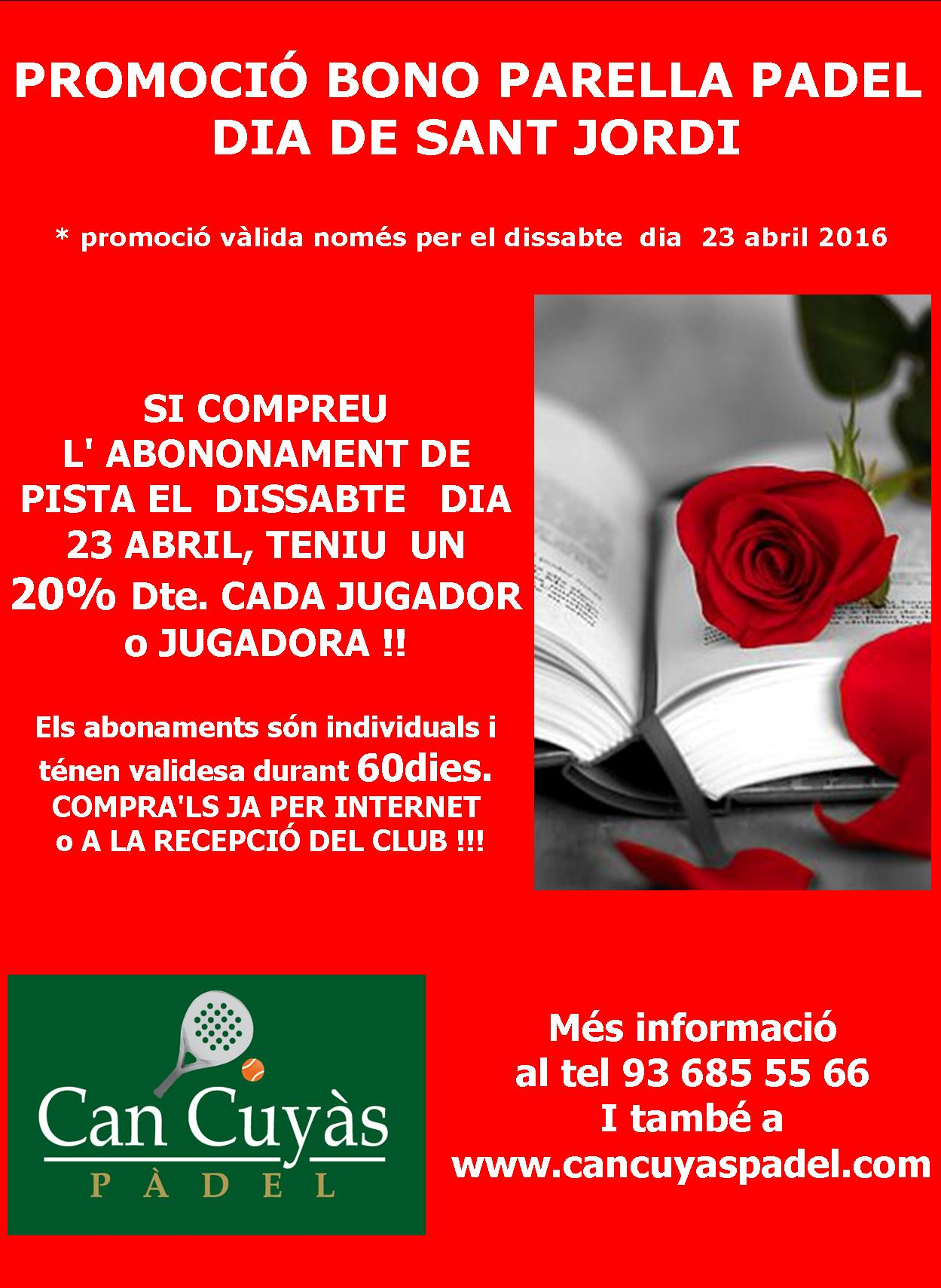 PROMO DIA SANT Jordi 2016